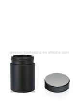 negro hdpe botella de plástico