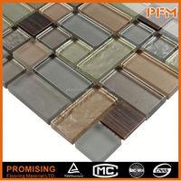 shining surpface backsplash decorative 3d metal mosaic tile
