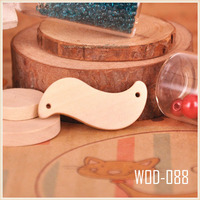 wavy square wooden pendant wood jewel base, wooden jewel supply african beads jewelry set WOD088