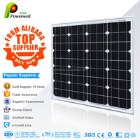 75w Monocrystalline solar module high efficiency fiexible solar panel china price with all certificates