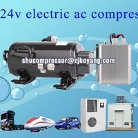 HVAC BLDC 12v cooling compressor for heavy duty truck cabin ship grab forklift electric-vehicle Telecom