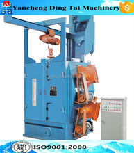 DTQ376 single hanger type shot blasting machine for rust removal/Hanger type Casting parts Shot Blasting