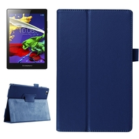 Factory Price Litchi Texture Leather Flip Cover for Lenovo Tab 2 A8
