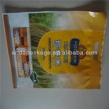 plastic bags for rice packaging/ plastic vacuum packaging bags for rice
