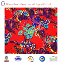 polyester/cotton woven digital printted fabric with flower pattern