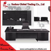 2015 black high grade office desks mobilier de bureau