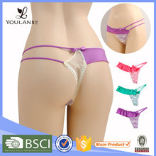 OEM Supply High Quality Lovely Girl Mesh Lace G-String For Big Women