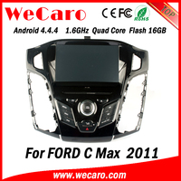Wecaro WC-FF7305 Android 4.4.4 car dvd player touch screen for ford c-max navigation multimedia 2011 mirror link