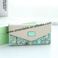 150pcs/lot free shipping wholesale price Pastoral Floral Quilted Clutch .five colors ,good quality and good service