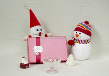50ml to 400ml Christmas package luxury glass Disposable fruit salad cup with package wholesale