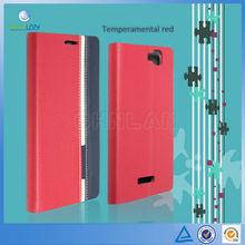 2014 Fashion Ultra-Thin PU Stand Leather Case for Xiaomi Mi Hongmi Note Luxury Flip Cover