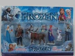 (Promotion) Movie Frozen Figure Play Set Anna Elsa Hans Kristoff Sven Olaf 6pcs Set Classic Toys