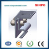 Anodized PV stents for solar module installation