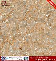 Polished faux marble floor tiles