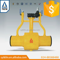 TKFM factory directly sale directly buried undergroud long stem worm gear double exhaust ball valve