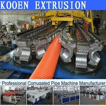 new designed PE PP PVC single/double wall corrugated pipe machinery with good price