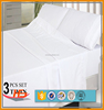 200TC Cotton White Flat Bed Sheet Sets Twin/Full/Queen/King