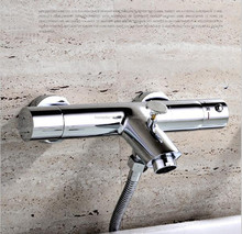 Copper Hot And Cold Water Thermostatic Mixing Valve Shower Mixer Bathtub Faucet Hand Shower
