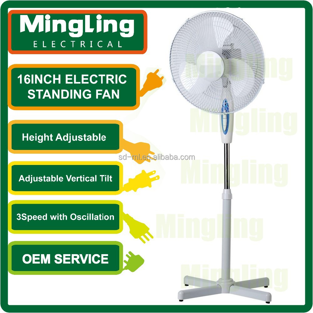 2016 New Electric 16inch Stand Fan Home Appliance South