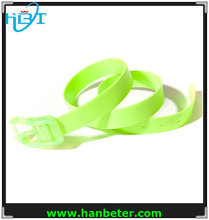 Adult Fashion Silicone rubber belt Fashion candy jelly belt Width 3.5CM