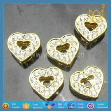 Snazzi Pet 8mm Slider Pet Collar Charms:Wholesale Heart Beads