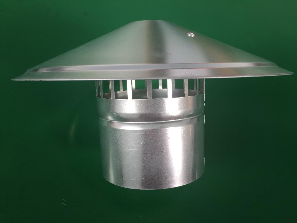 Waterproof vent pipe cap galvanized steel cowl vents roof for 6 bathroom roof vent