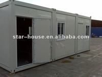 Flat pack container house for living or office