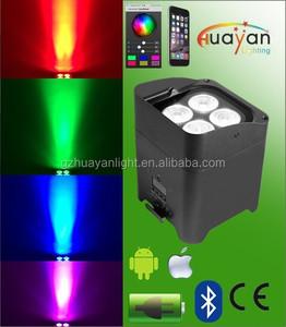 Libertà par4 rgbaw+uv led remoto lavaggio dmx chiara uplight con batteria ricaricabile e app mobile di controllo