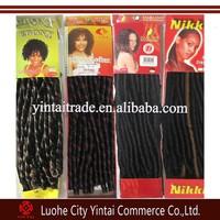 2015 popular by black women nina soft dread locks for hair braiding/nubian hair extension/ebony braiding hair weaves
