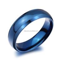 Cheap wholesale blue men stainless steel ring blanks