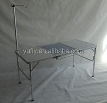 Camping table Garden table Patio table party table outdoor table Alum. Folding picnic table Korean BBQ table