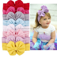 Girls bow headband hairband baby infant cotton knot head band head wrap for hair accessories