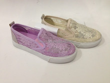 High quality slip on lace upper canvas shoes wenzhou shoes factory