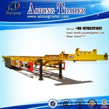 Container transportation 20ft 40ft 45ft skeleton/flatbed container semi truck trailer with 12 twist lock for sale