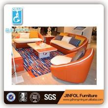 comfortable couch leather sofa set design living room furniture soaf J858