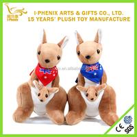Top quality popular kids plush toy kangaroo wholesale