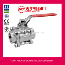 3PC Stainless Steel Ball Valves with Lockable Handles 3 Inch Stainless Steel Ball Valve