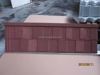 Shingle Stone coated metal roof tile/durable brown tile