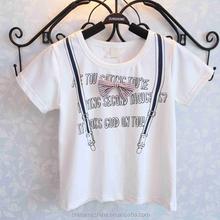 MS64121C 2015 summer new design kids children short sleeve tee shirt
