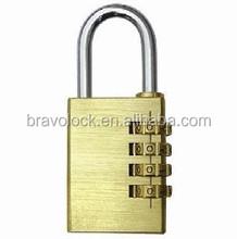 4 digital brass combination padlock