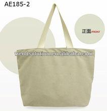 large capacity zippered shopping tote bag