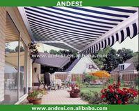 Aluminum retractable dutch awnings