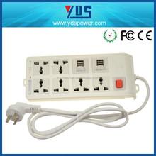 Uso amplio escritorio receptáculo 13a 6 ways + cargadores usb 4 toma de corriente de sockets múltiples fabricante de China
