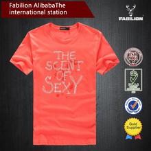 OEM wholesale china men's printed organic cotton t shirt