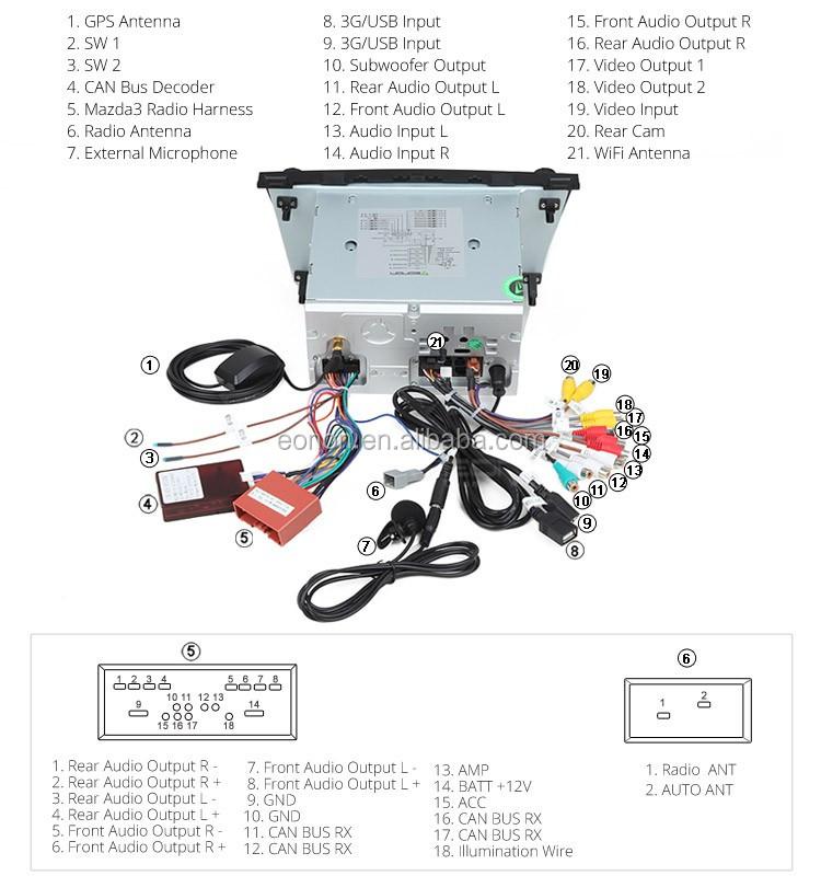 eonon ga6163f for mazda 3 2010 2013 android 5 1 1 lollipop 8inch car dvd player eonon wiring diagram #46