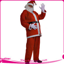 Precio del wholsale barato santa claus traje de la navidad