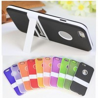 For iphone 6 case Frosted Soft TPU silicone stand case phone accessory for iphone 6 6S 6S plus for iphone 5 case 10 colors