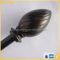 fancy oval curtain rods finials