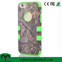 new design leaf pc silicone 3 in 1 cheap mobile phone case for mobile covers iphone 6
