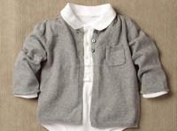 wholesale organic cotton crewneck one pocket handmade newborn baby cardigan sweater